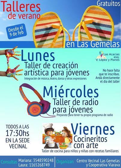 Talleres de Verano 2015 en Las Gemelas