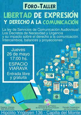 Foro-Taller Libertad de Expresión y Derecho a la Comunicación