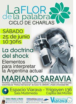 """Mariano Saravia abre el ciclo de charlas """"La flor de la palabra"""""""