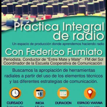 Comienza el taller de práctica integral de radio