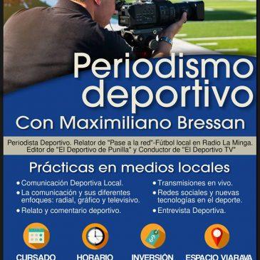 Taller de Periodismo deportivo con Maximiliano Bressan