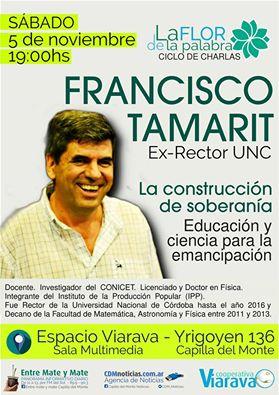Francisco Tamarit en el ciclo La Flor de la Palabra