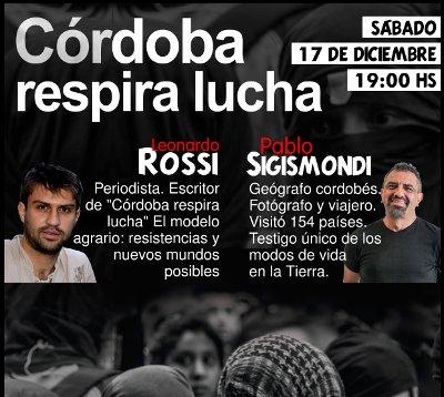 """""""Córdoba respira lucha"""": Leonardo Rossi y Pablo Sigismondi en Capilla del Monte"""