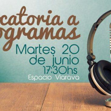 Uritorco Radio convoca a la presentación de programas