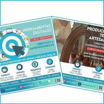 Cursos gratuitos de capacitación para emprendedoras/es: incorporación de herramientas digitales y producción textil artesanal