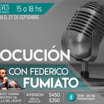 Curso de Locución con Federico Fumiato: un recorrido hacia la propia voz