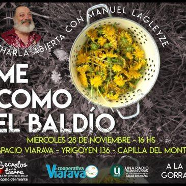 """""""Me como el baldío"""": Este miércoles charla abierta sobre plantas comestibles"""