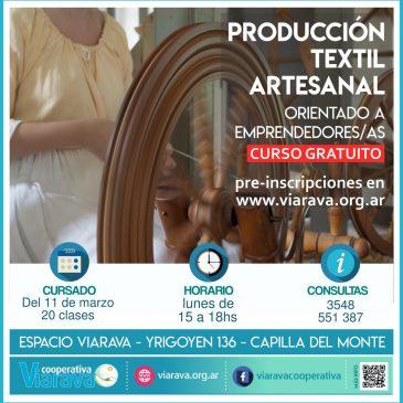 Cursos gratuitos 2019 – Capacitación para emprendedoras/es: incorporación de herramientas digitales y producción textil artesanal