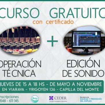 Operación técnica y edición de sonido: Curso gratuito